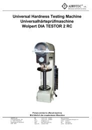 Universal Hardness Testing Machine Universalhärteprüfmaschine ...
