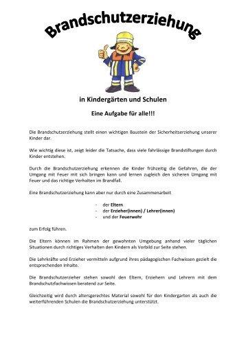 Flyer - BSE für Kinder - Homepage - Feuerwehr Rodalben