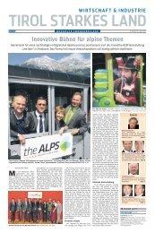 Innovative Bühne für alpine Themen