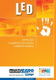 ceník LED a systémů pro výrobu světelné reklamy - Prodes