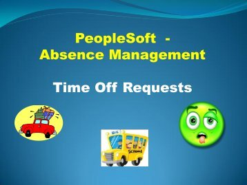 PeopleSoft - Absence Management Time Off Requests