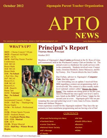 October 2012 - Public Schools of Northborough and Southborough