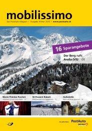 mobilissimo, Das PostAuto-Magazin, Ausgabe Winter 2010 - PostBus