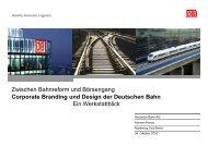 Corporate Branding und Design der Deutschen Bahn Ein ...