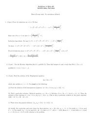 Solutions to Quiz #5 MATH 3034, Fall 2012 Show all your work. No ...