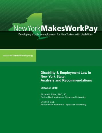 Disability & Employment Law in New York State