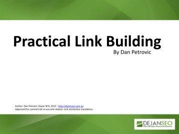 Practical Link Building - Dejan SEO