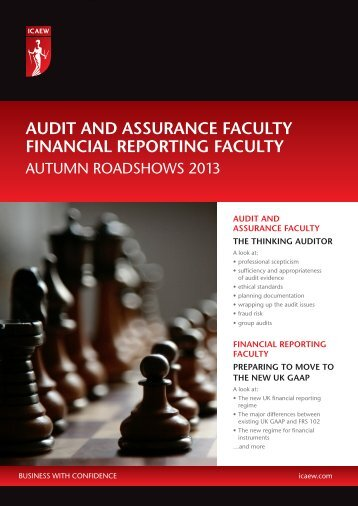 AUDIT AND ASSURANCE FACULTY FINANCIAL ... - ICAEW