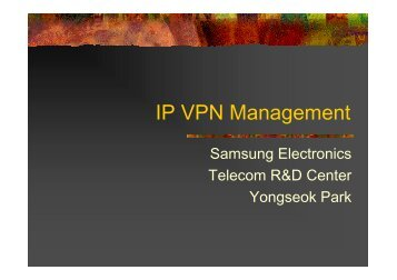 IP VPN Management - KNOM