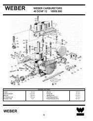 WEBER CARBURETORS 40 DCNF 12 18950.060