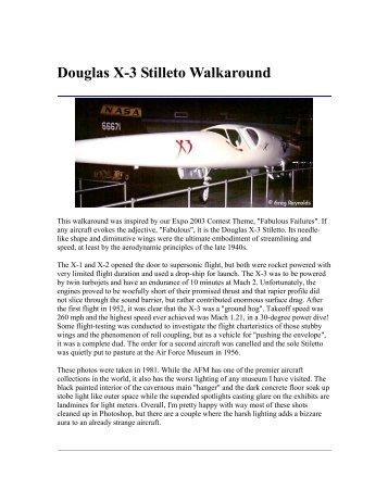 Douglas X-3 Stilleto Walkaround - IPMS Santa Rosa