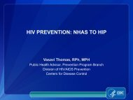 V. Thomas-CDC HIV Planning Guidance ... - The AIDS Institute