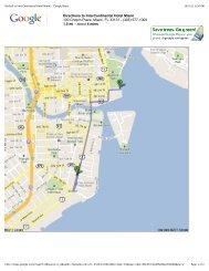 Brickell to InterContinental Hotel Miami - Google Maps