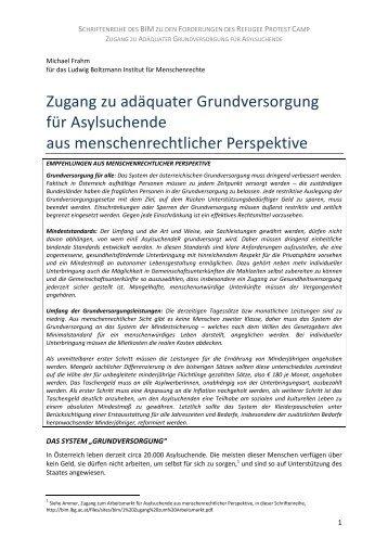 Zugang zu adäquater Grundversorgung von Michael Frahm [PDF]