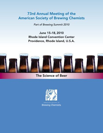 ASBC Program Book - The Master Brewers Association of the ...