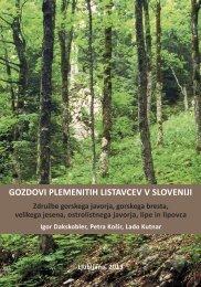 gozdovi plemenitih listavcev v sloveniji - Gozdarski inštitut Slovenije