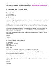 A Free General Thank You Letter Sample - Manchester Community ...
