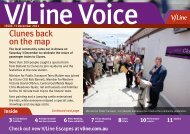 Clunes back on the map - V/Line