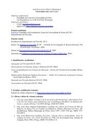 Curriculum vitae (abreviado) - Instituto de Filosofia - Universidade ...