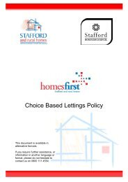 Choice Based Lettings Policy - Stafford and Rural Homes