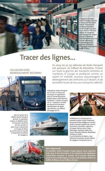 Tracer des lignes… - Transports