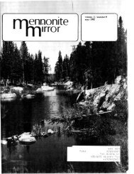 Volume 11/ Number 9 - Canadian Conference of Mennonite ...