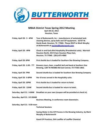 MBAA District Texas Spring 2012 Meeting