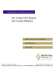 ^2 3U Turbo CPU Board (3U Turbo PMAC2) - Delta Tau