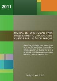 Manual de Orientação para o preenchimento da ... - ComprasNet