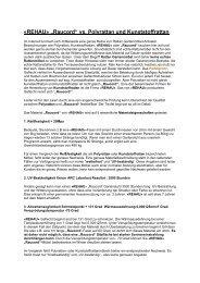 "«REHAU» ""Raucord"" vs. Polyrattan und Kunststoffrattan - Mazuvo"