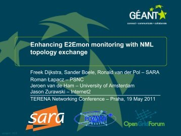 Enhancing E2Emon monitoring with NML topology exchange