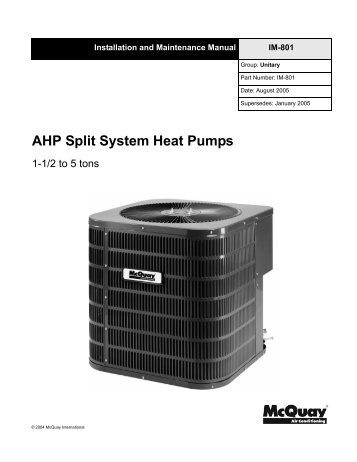 school hvac design manual mcquay international default page rh yumpu com McQuay Geothermal Heat Pumps McQuay Air Cooled Chiller