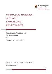 evangelische Religionslehre - Ministerium für Bildung, Wissenschaft ...