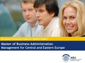 Master of Business Administration - MBA.de