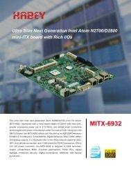 MITX-6932 Datasheet - Habey USA