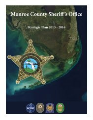 Sheriff's Office Strategic Plan, 2013 - 2016 - Monroe County Sheriff's ...