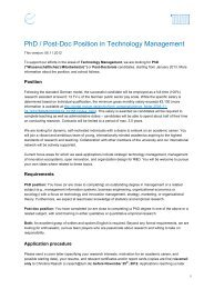 PhD / Post-Doc Position in Technology Management - TUM