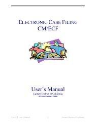 CM/ECF User's Manual - Eastern District of California