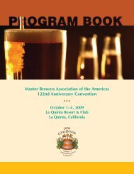 Program Book - The Master Brewers Association of the Americas