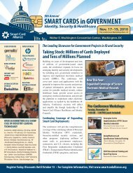 SMART CARDS in GOVERNMENT - Smart Card Alliance