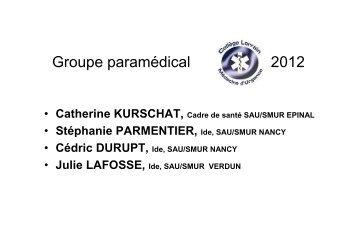 Catherine KURSCHAT, Cadre de santé SAU/SMUR EPINAL - COLMU