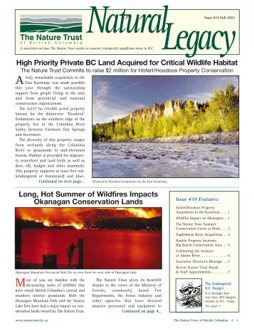 Fall Newsletter 2003 - Nature Trust of British Columbia