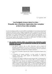 Les budgets locaux dans la crise - Enquête des ... - Eurorai.org