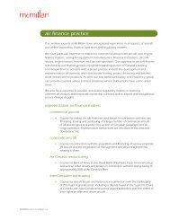 McMillan LLP air finance practice brochure