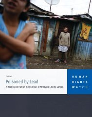 Kosovo poisoned by lead - Human Rights Watch