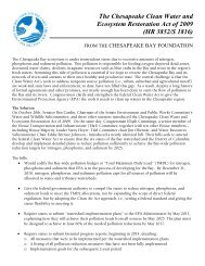 Chesapeake clean Water and Ecosystem Restoration Act