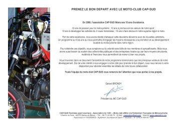 Télécharger le Book de Cap-Sud - Cap-Sud Moto Club