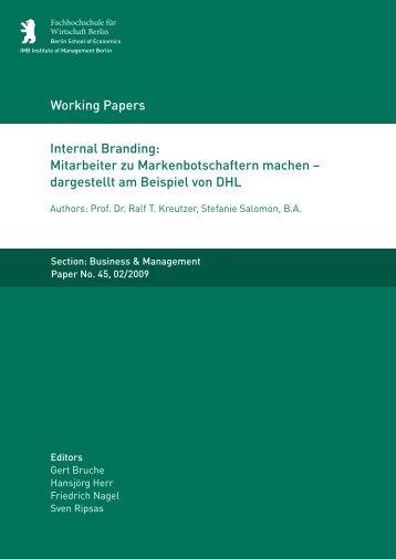 Internal Branding - MBA Programme der HWR Berlin