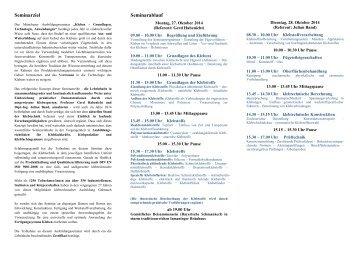 Seminarziel Seminarablauf - IFF GmbH