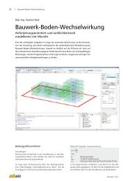 Bauwerk-Boden-Wechselwirkung - mb AEC Software GmbH